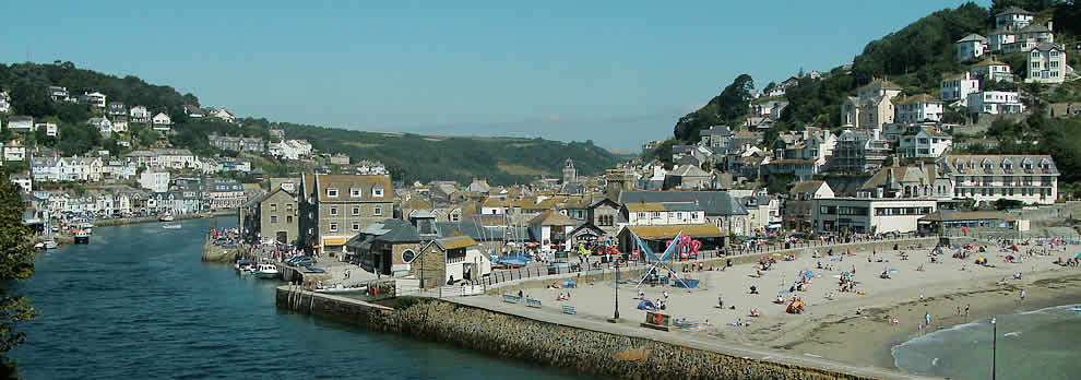 The family beach at Looe, Cornwall