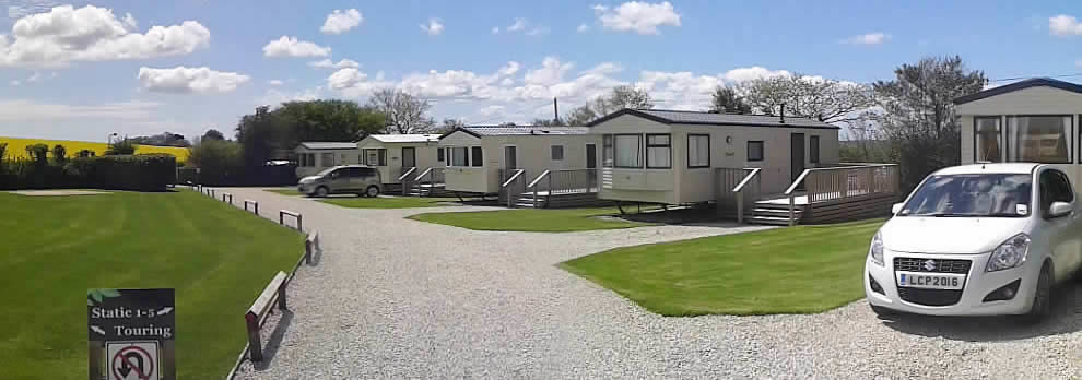 Superb static holiday caravans at Looe Country Park, Caravan and Campsite near Looe
